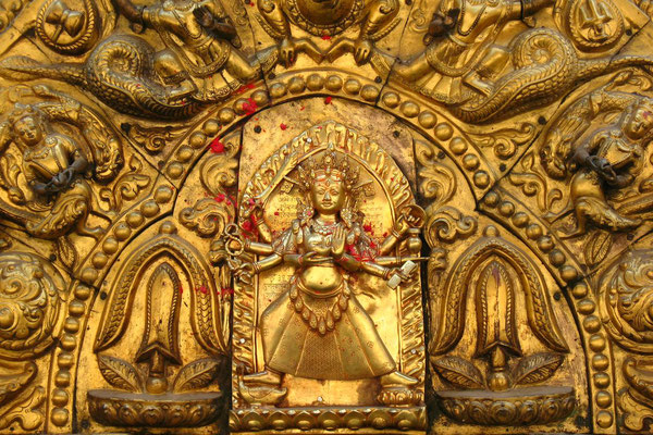 Door at Nava Durga Temple - Bhaktapur