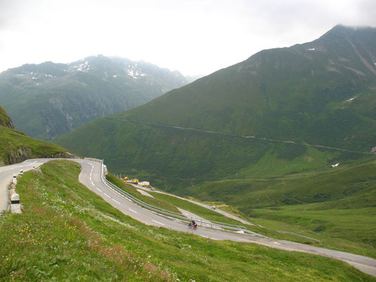 Cycling Oberalp Pass 2,046 m - Graubünden and Uri - Switzerland