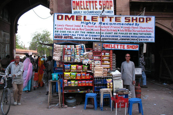 The egg man´s Omelette Shop - Jodhpur - Rajasthan