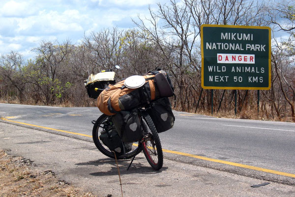Crossing Mikumi National Park - Morogoro Province