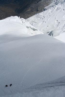 Abseiling - Tocclaraju - Cordillera Blanca