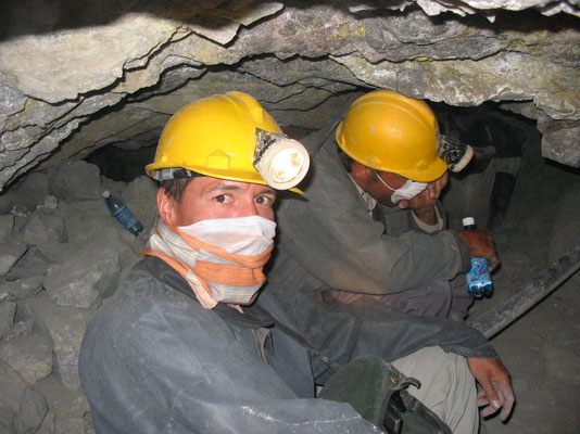 Me and Harald at Cerro Rico Mines - Potosi