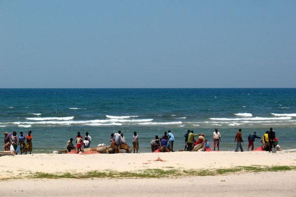 Fishermen at Chintheche Strip - Lake Malawi