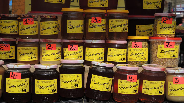Honey at Central Market - Riga - Latvia