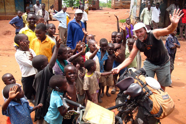 Hugo and the kids - Mubende Province