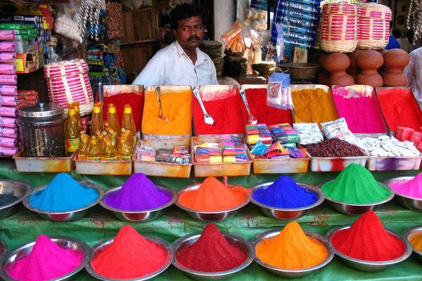 Tikka powder at Devaraja Market - Mysore - Karnataka