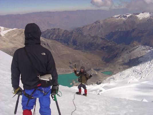 Vladimir and me heading back - Tocclaraju - Cordillera Blanca