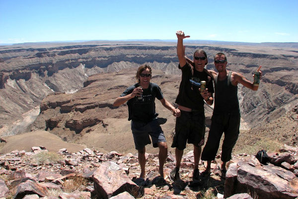 Emile, Andre and me at Fish River Canyon - Namib Desert