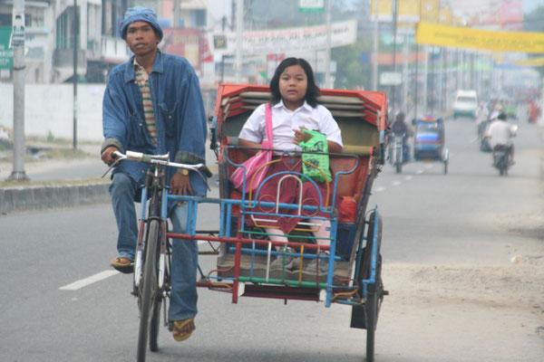 Rickshaw - Panyabungan Tonga - Central Sumatra