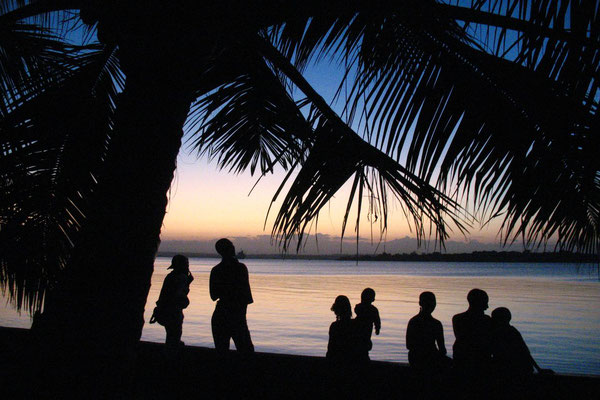 Locals gathering for sunset - Tanga - Indian Ocean
