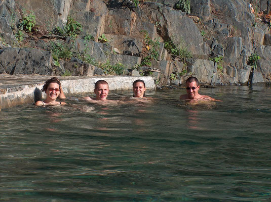 Jutta, Bartek, Nathalie and me at Santa Teresa hot springs