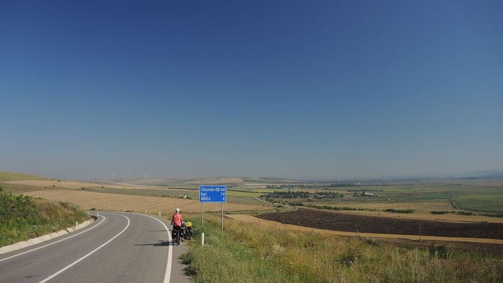 Heading for the Moldovian border - Romania