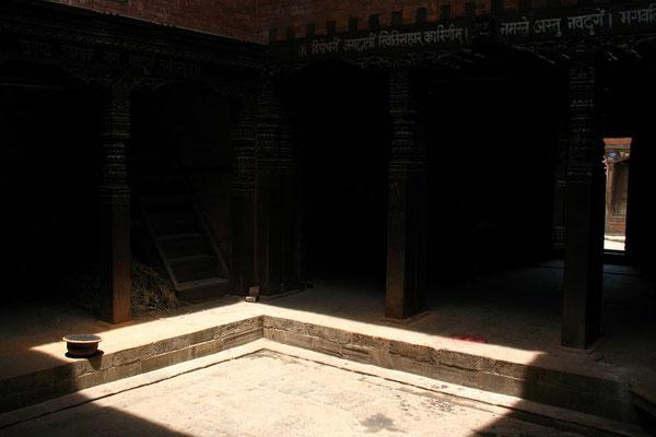Inner courtyard at Nava Durga Temple - Bhaktapur