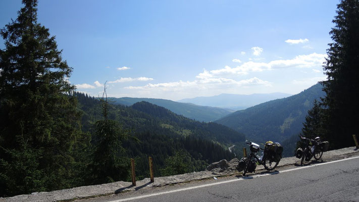 Crossing the Carpathian Mountains - Romania