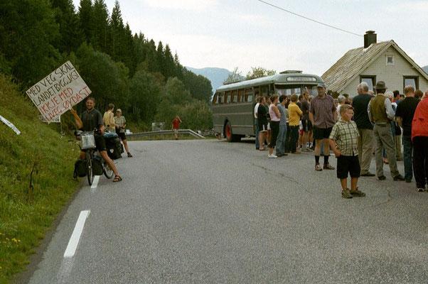 Protesters at Innvikfjorden - Western Norway