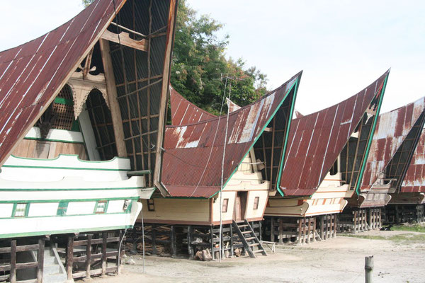 Traditional Batak houses - Lake Toba - Northern Sumatra