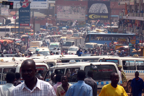 Horrible daily traffic jam - Kampala