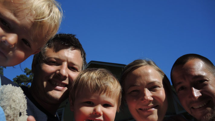Ava, Udo, Theo, Karin and me near Helsinki - Finland