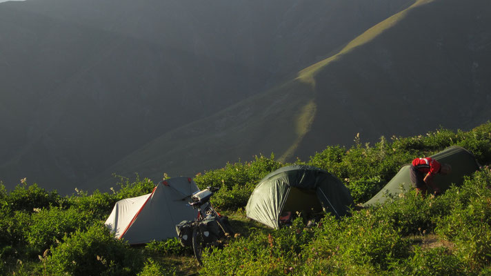 Camp near Kaldama Pass 3,062 m - Tian Shan Mountains - Kyrgyzstan