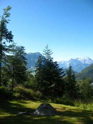 Camp spot north of Schwyz - Switzerland