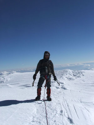 Me at Tocclaraju summit 6,034 m - Cordillera Blanca