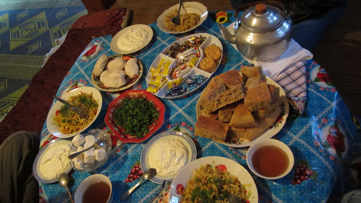 Traditional dinner - Darshai - Wakhan Valley - Tajikistan