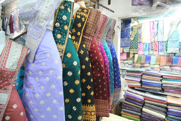 Traditional clothes at Talat Sao Market - Vientiane