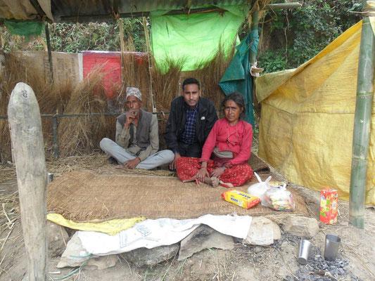 Shambhu und seine Eltern