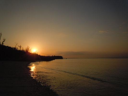 テラスからの夕日