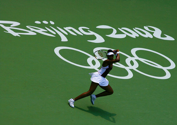 2008 Venus Williams at Beijing Olympic Green Tennis Court