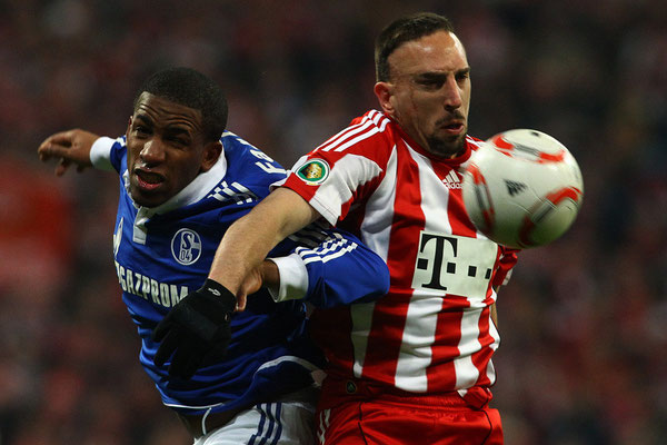 2011 Franck Ribery & Jefferson Farfan at Allianz Arena