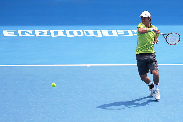 2015 Kei Nishikori at Melbourne Park