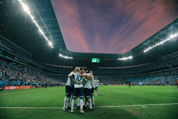2019 Argentina team group at Arena do Gremio