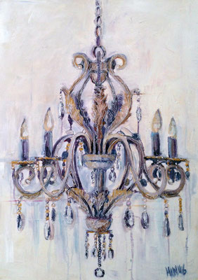 """Chandelier"", 50 cm x 70 cm, Mixed Media, 2016 ___Unverkäuflich"