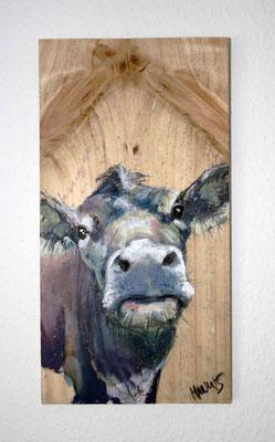 """""""Milka"""", 25 cm x 33 cm, Acryl auf Holz, 2015 ___VERKAUFT"""