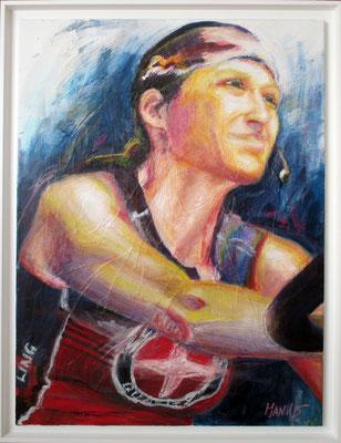 """Indoor Cyclonista Evelyne"", 60 cm x 80 cm, 2015"