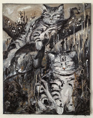 """Rambo & Roxanne"", 40 cm x 50 cm, mixed media, 2013"