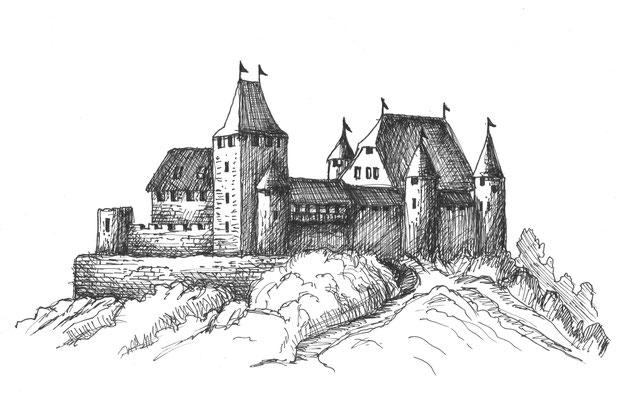 Burgzeichnungen für Ausbildungsräume, 2014, Amt für Militär- und Bevölkerungsschutz BL