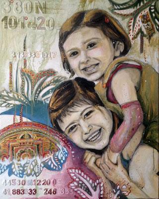 """Malaysia & Italia"", 100 cm x 80 cm, 2013"