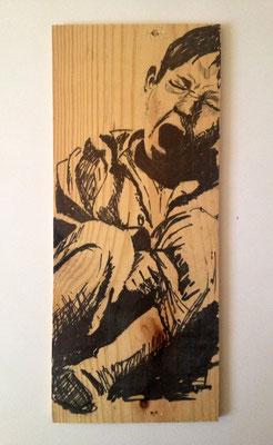 """""""Boy"""", 13 cm x 33 cm, Filzstift auf Holz, 2010   ___CHF 100.-"""