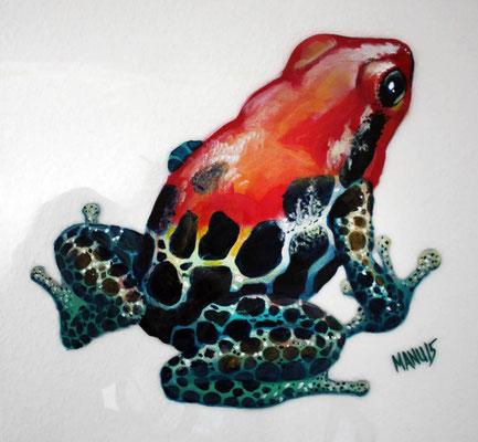 """""""Costa Rica II"""", 45 cm x 42 cm, Acryl auf Plexiglas, 2015 ___CHF 300.-"""