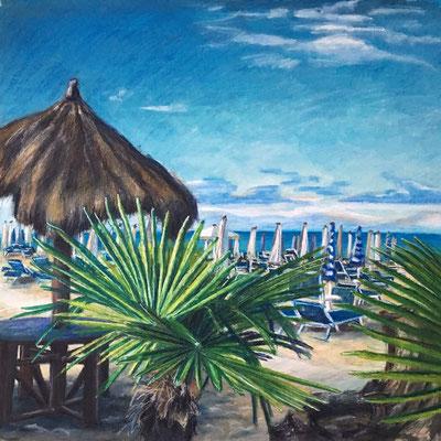 """""""Punta Marina"""", 60 cm x 60 cm, Mixed Media auf Papier, 2017"""