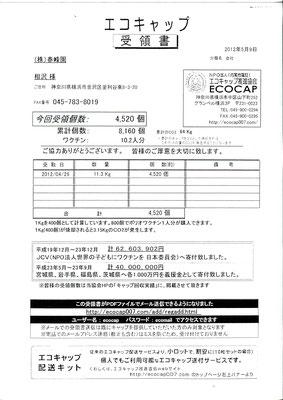 2012/05/09 送付実績4,520個