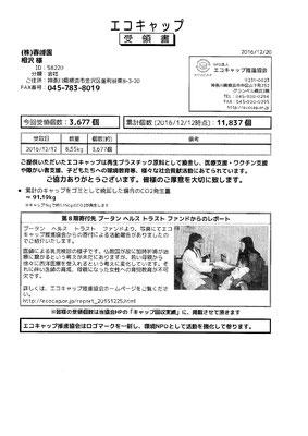 2016/12/12 送付実績3,677個
