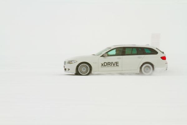 BMW Test auf dem Schottensee oberhalb Davos