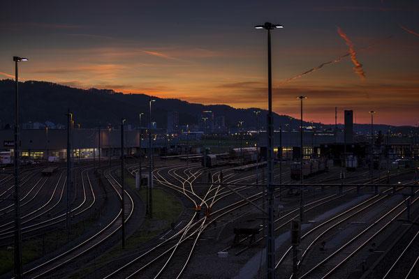 Eisenbahnromantik in Dietikon Richtung Westen