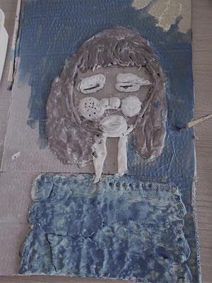 geraldine jannot / cadavre exquis terre crue  / portrait d argile