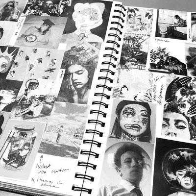 Das visuelles Brainstorming von Jill Sägesser zu Beginn des Projekts.
