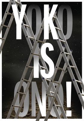 Plakat Yoko Ono von Zerzawy Nadia