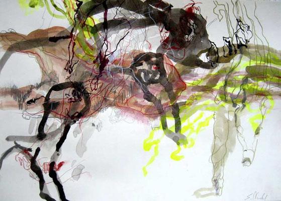 7    Acryl on paper   41 x 60 cm  2013